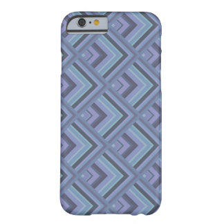 Blue-grey stripes scale pattern barely there iPhone 6 case