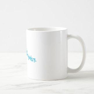 Blue Groovy Happy Humanist Basic White Mug