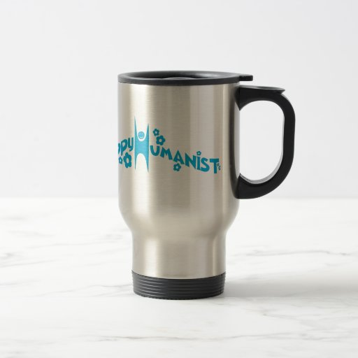 Blue Groovy Happy Humanist Mugs