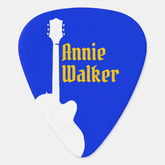 blue Grover Allman guitar pick with guitarist name