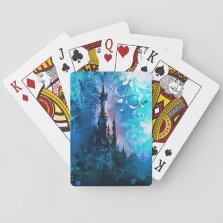 Blue Grunge Fairytale Fantasy Castle Playing Cards
