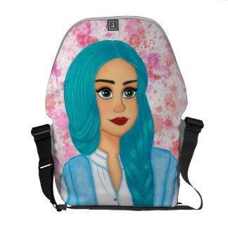 Blue hair commuter bag