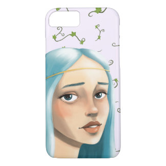 Blue Hair Maiden on Ivy iPhone 7 Case