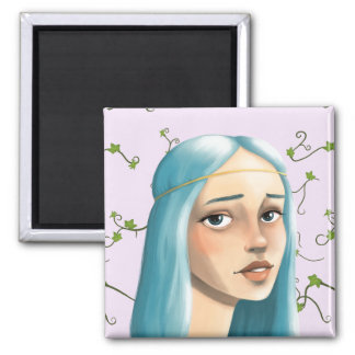 Blue Hair Maiden on Ivy Magnet