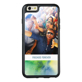 Blue Hand Painted Watercolor | Add Photo OtterBox iPhone 6/6s Plus Case