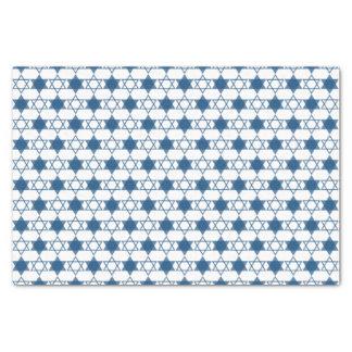 Blue Hanukkah Stars Of David Holiday Gift Wrap Tissue Paper