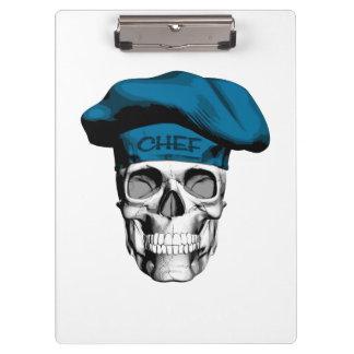 Blue Hat Chef Skull Clipboards