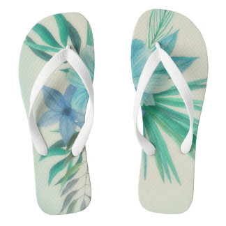 Blue Hawaii Flip Flops Thongs