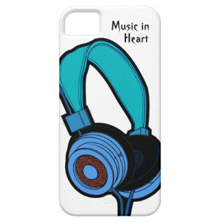 Blue headphone iPhone 5 covers