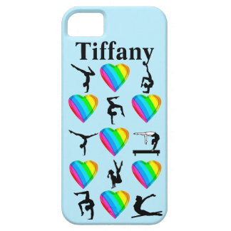 BLUE HEART PERSONALIZED GYMNASTICS IPHONE CASE