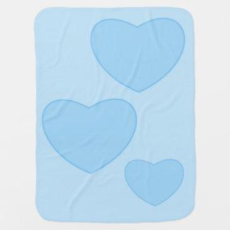 Blue Hearts Baby Blanket