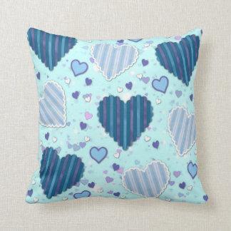 Blue Hearts Cushion