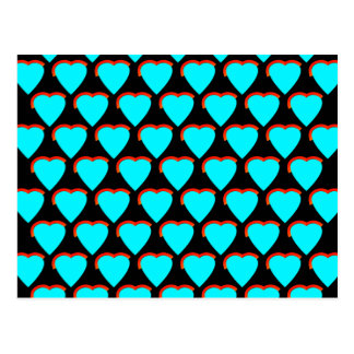Blue Hearts Postcard