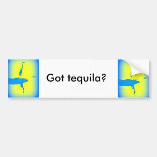 """blue heron sunrise """"got tequila?"""" bumper sticker"""
