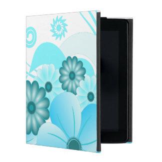 Blue Hibiscus Floral Powis iCase iPad Folio Case