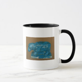 Blue hippopotamus with black decoration mug