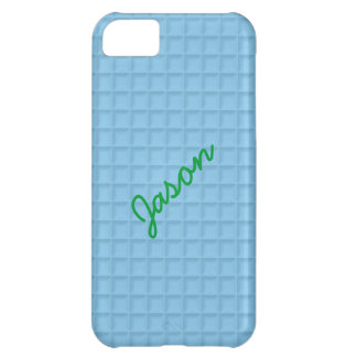 Blue Honeycomb Fabric iPhone 5 Cover Template