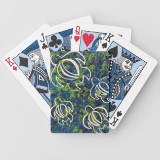 Blue Honu Bicycle Playing Cards