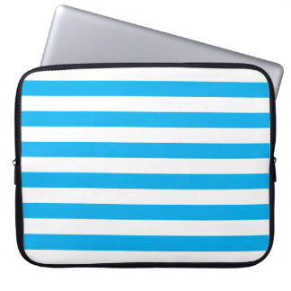 Blue Horizontal Stripes Laptop Sleeve