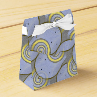 Blue Horse Shoe Art Wedding Favour Boxes