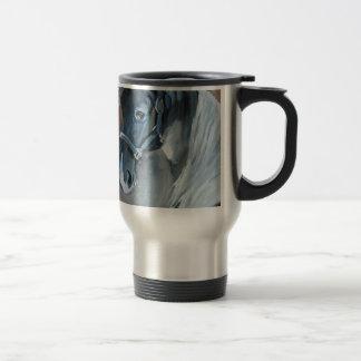 Blue Horse Stainless Steel Travel Mug