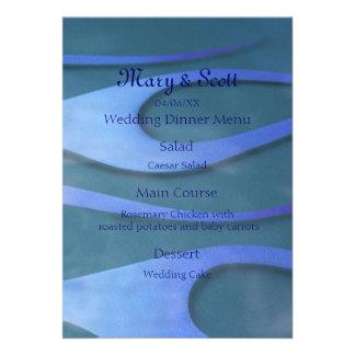 Blue Hotrod flames menu Invitations