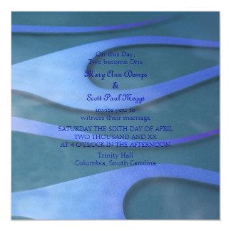 Blue Hotrod flames wedding invitation
