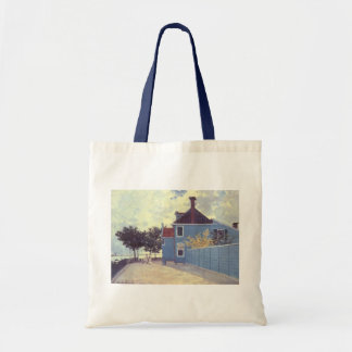 Blue House at Zaandam by Claude Monet, Vintage Art Tote Bag