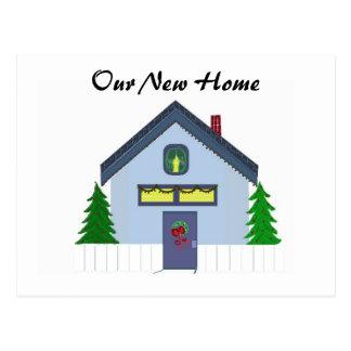 Blue House New Address Card