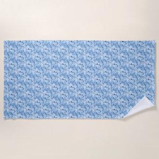 Blue Hydrangea Floral Beach Towel