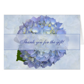 Blue Hydrangea Flower Blank Thank You Gift Card