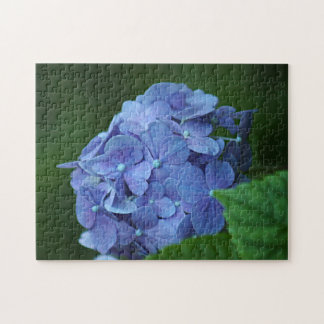 Blue hydrangea flower jigsaw puzzle
