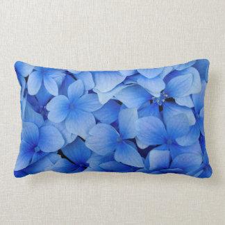 Blue Hydrangea Flowers Lumbar Pillow
