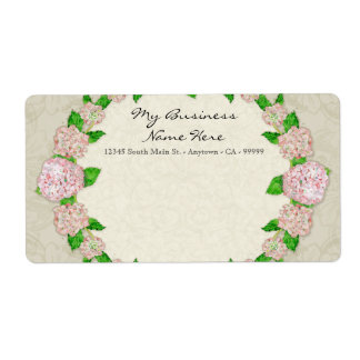 Blue Hydrangea Lace Floral Formal Elegant Business Shipping Label