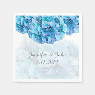 Blue Hydrangea Wedding Collection Napkins Paper Napkins