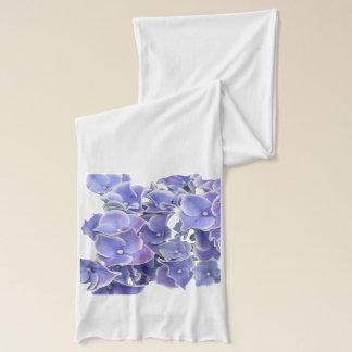 Blue Hydrangea with white border Scarf