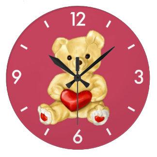 Blue Hypnotizing Cute Teddy Bear Clocks
