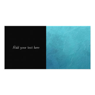 Blue Ice Abstract Artwork Customized Photo Card