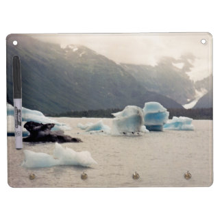 Blue Ice Dry Erase Board With Key Ring Holder