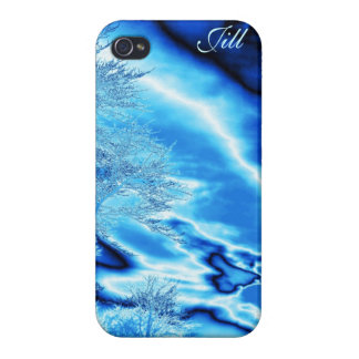 Blue Ice tree and Sky iPhone case *Personalize* iPhone 4 Cover