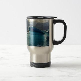 Blue iceberg travel mug