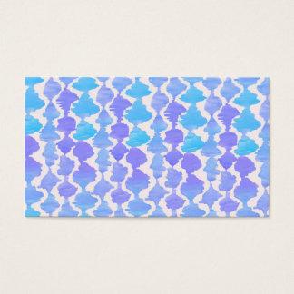 Blue Ikat Watercolor Ikat Pattern Business Card