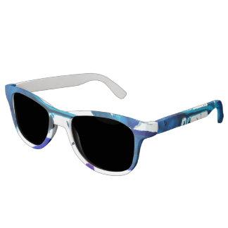 Blue Ink Splatter on Sunglasses