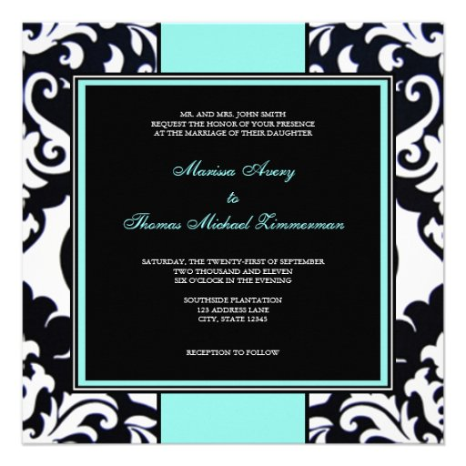 Blue Personalized Invites