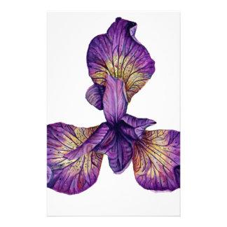 Blue Iris Siberica Flower Stationery
