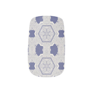 Blue Kaleidoscope Nail Wraps