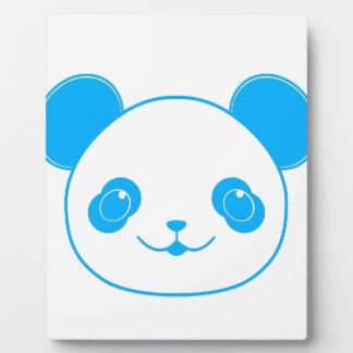 Blue Kawaii Panda Bear Plaque