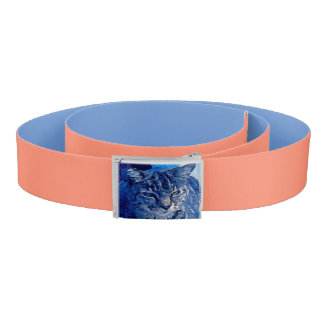 Blue Kitty Custom Belt Peach and Blue