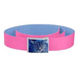 Blue Kitty Custom Belt Pink