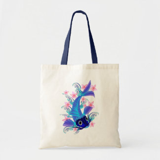 Blue Koi-Pink Flowers Bags